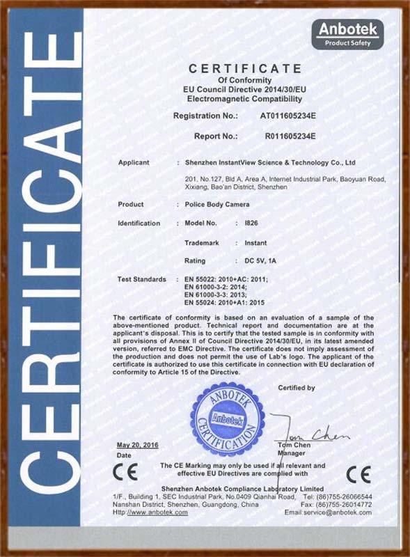 I826 CE 证书